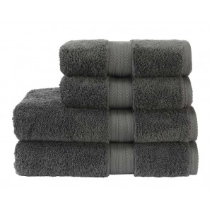 Christy Renaissance 675gsm Egyptian Cotton Ash Grey Towels and Mats