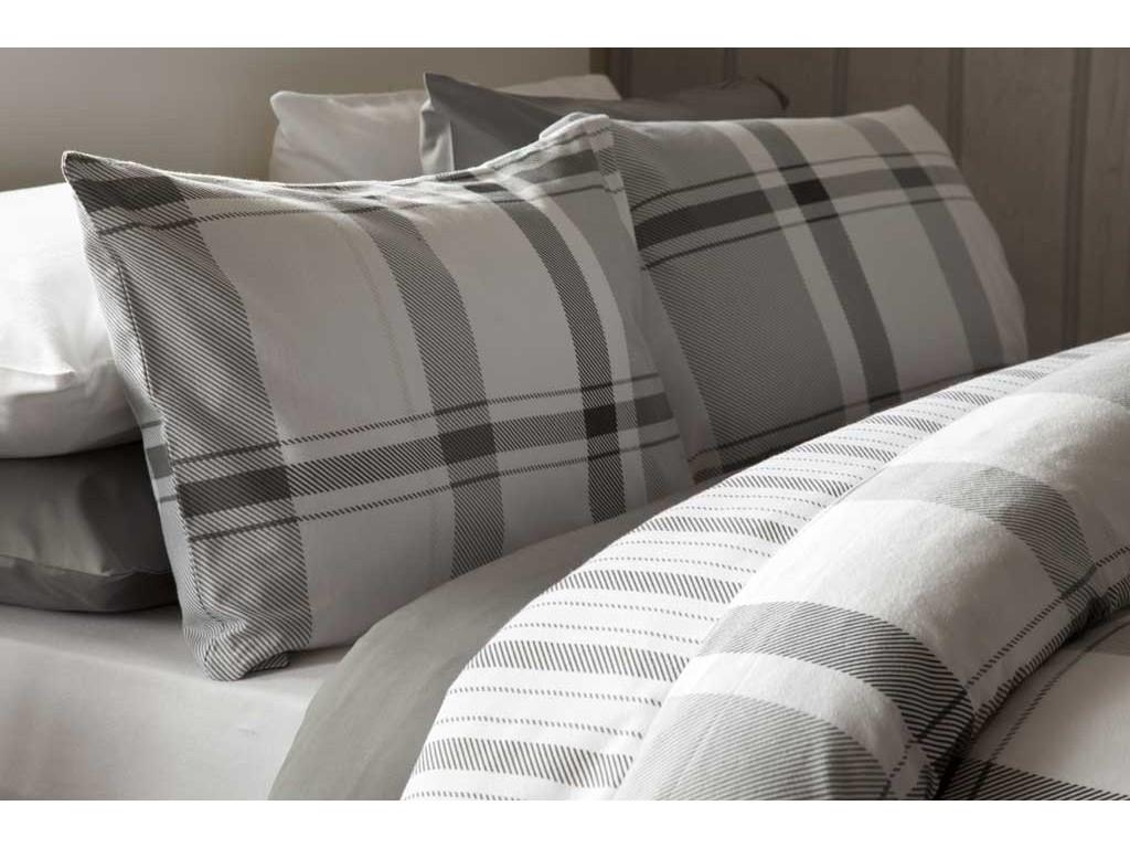 Belledorm Boston Check Grey Duvet Cover Sets