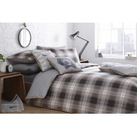 Racing Green Alnwick Check Amber Duvet Cover Sets