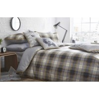 Racing Green Alnwick Check Ochre Duvet Cover Sets