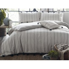 Appletree Delta Stripe Linen Duvet Cover Sets