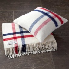 Scarlet and Argent Luxurious Albion Throw and Cushion
