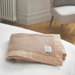 John Atkinson by Hainsworth® Cellular Atkincel Satin Bound Wool Champagne Blanket