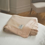 John Atkinson 375gsm Pure Cashmere Champagne Blankets