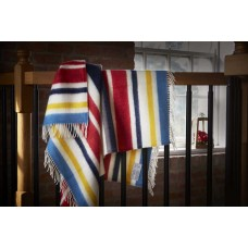 Scarlet and Argent Luxurious De Lancey Throw