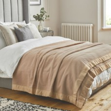 John Atkinson by Hainsworth® Duchess Pure Merino Wool Champagne Blankets