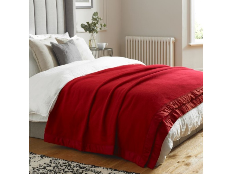 John Atkinson by Hainsworth® Duchess Pure Merino Wool Cherry Blanket