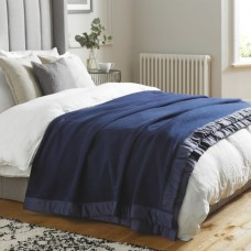 John Atkinson by Hainsworth® Duchess Pure Merino Wool Navy Blankets