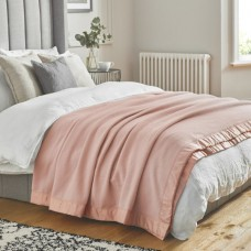 John Atkinson by Hainsworth® Duchess Pure Merino Wool Powder Pink Blankets