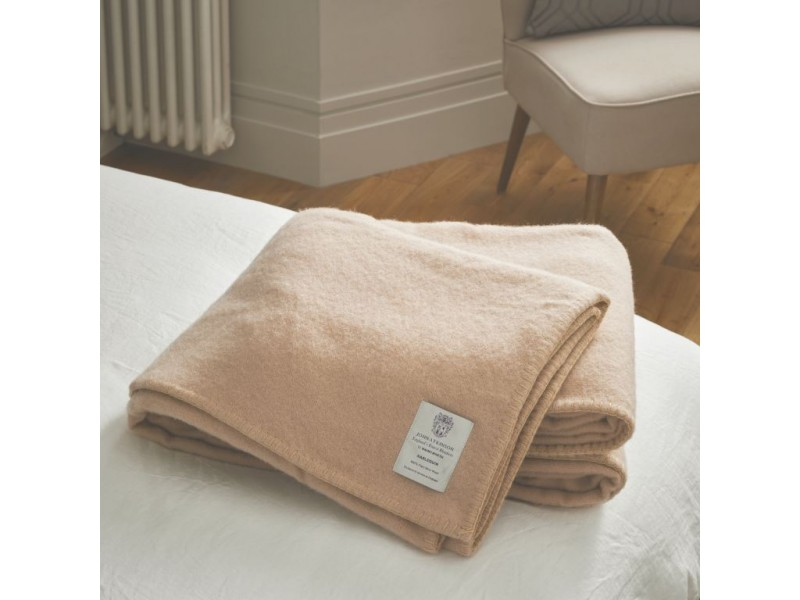 John Atkinson by Hainsworth® Harlequin Pure Wool Champagne Blankets