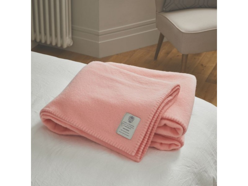 John Atkinson by Hainsworth® Harlequin Pure Wool Pink Blankets