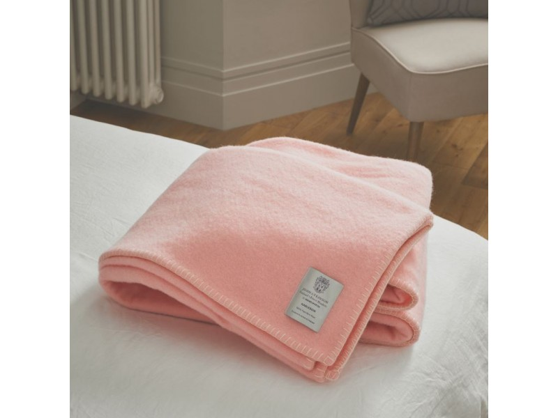John Atkinson by Hainsworth® Harlequin Wool Pink Whipped With White Blankets