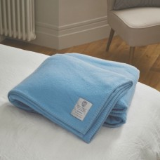 John Atkinson by Hainsworth® Harlequin Pure Wool Sky Blue Blankets