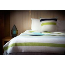 Scarlet and Argent Luxurious Mill Stripe Spring Blanket and Cushion