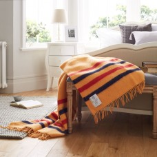 Scarlet and Argent Luxurious Newmarket Throw