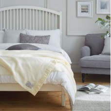 John Atkinson by Hainsworth® North Star Pure New Wool White Blankets