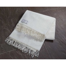 Scarlet and Argent Luxurious Trilogy Natural Throw