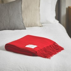 Scarlet and Argent Twill & Granite Scarlet Throw
