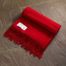 Scarlet and Argent Luxurious Twill & Granite Scarlet Throw and Cushion