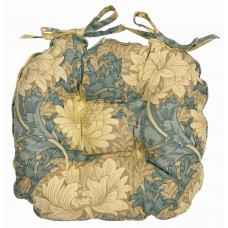 William Morris Chrysanthemum Piped Seat Pads