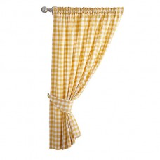 Le Chateau Country Woven Check Curtain Pairs