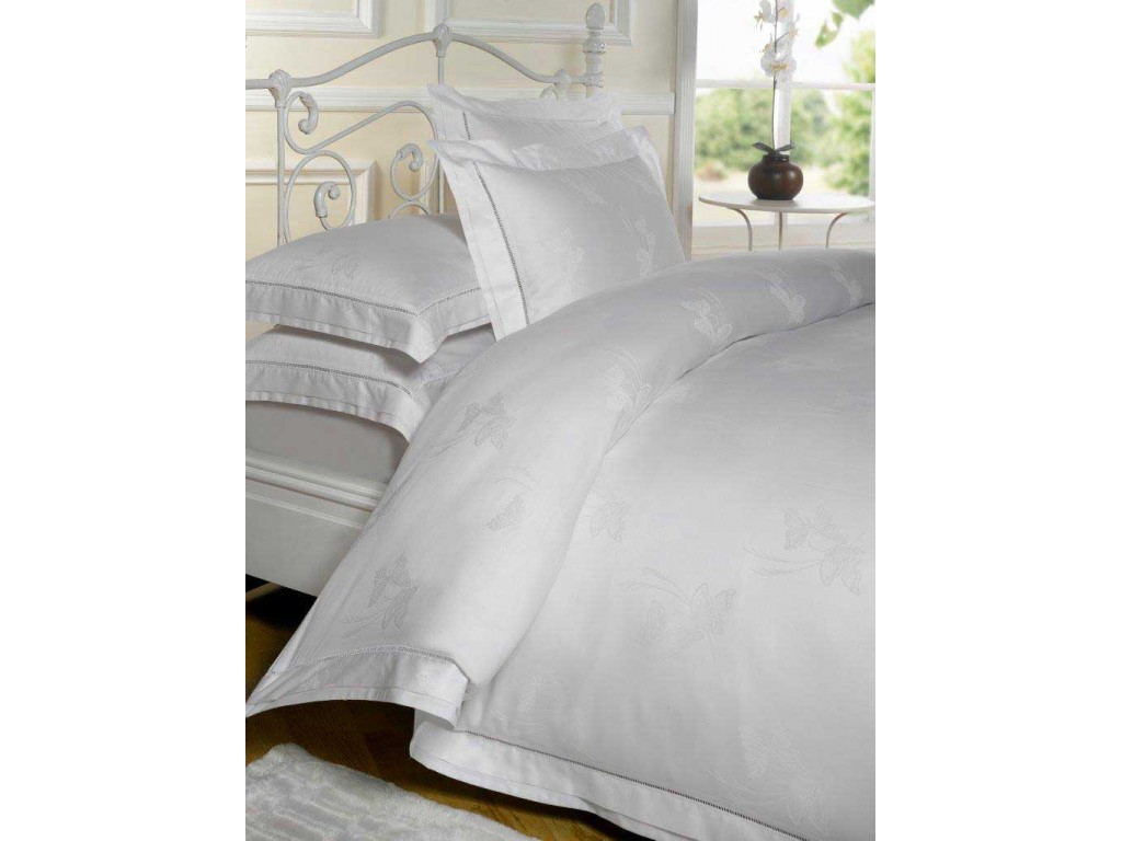 le chateau butterfly jacquard white duvet cover sets. Black Bedroom Furniture Sets. Home Design Ideas