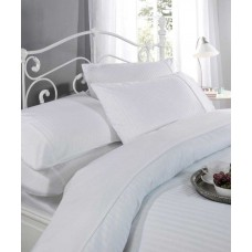 Le Chateau Ritz Satin Stripe White Duvet Cover Sets