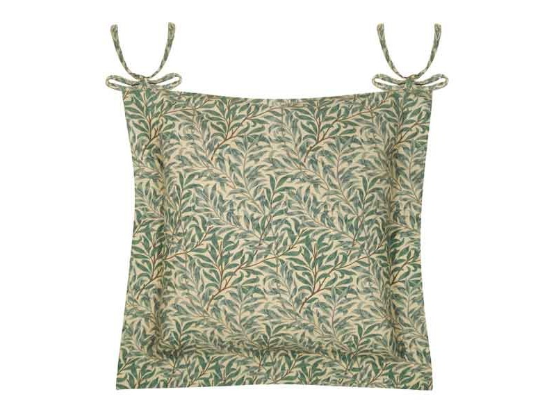 William Morris Willow Bough Green Oxford Seat Pads