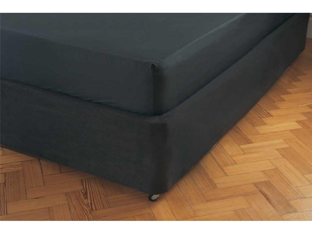 Belledorm Luxury Suede Divan Base Wrap Black