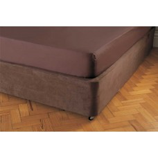 Belledorm Luxury Suede Divan Base Wrap Chocolate