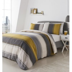 Fusion Betley Ochre Duvet Cover Sets and Curtains