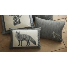 Dreams n Drapes Connolly Check Charcoal Boudoir Cushion