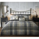 Dreams n Drapes Connolly Check Charcoal Duvet Cover Sets and Coordinates