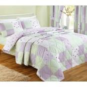 Dreams n Drapes Patchwork Lilac Duvet Cover Sets and Coordinates