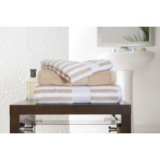 Deyongs 1846 Bliss Stripe 650gsm Biscuit Cotton Towels