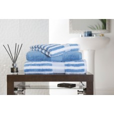 Deyongs 1846 Bliss Stripe 650gsm Cobalt Cotton Towels
