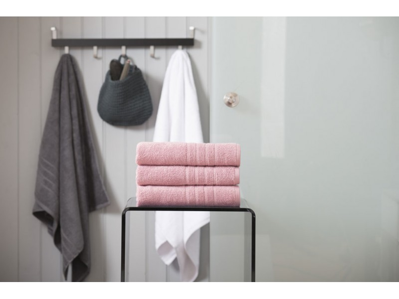 Deyongs 1846 Zero Twist 450gsm Pure Cotton Blush Towels