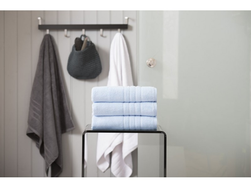 Deyongs 1846 Zero Twist 450gsm Pure Cotton Cornflower Towels