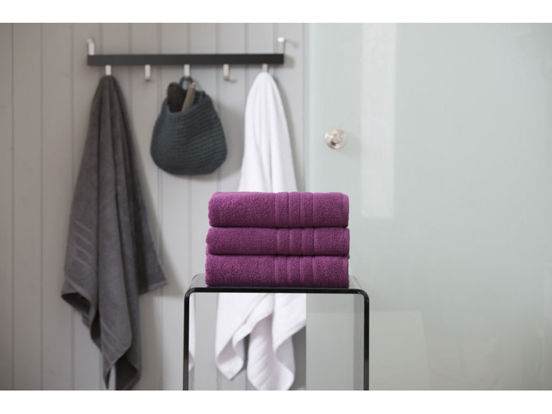 Deyongs 1846 Zero Twist 450gsm Pure Cotton Damson Towels