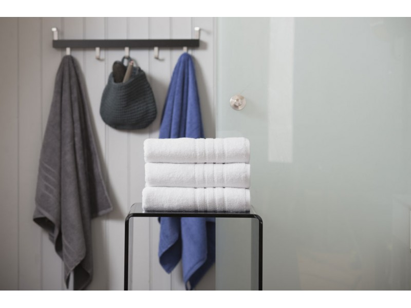 Deyongs 1846 Zero Twist 450gsm Pure Cotton White Towels