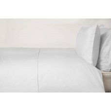 Belledorm 450 Thread Count Pima Cotton White Flat Sheets