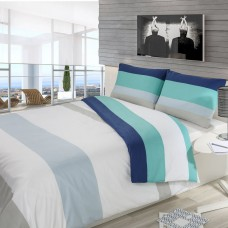 Driftwood Block Stripe Navy Duvet Cover Sets