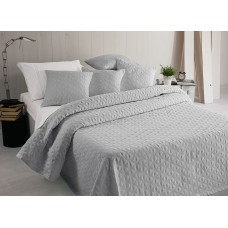 Elainer Hearts Grey Bedspreads and Pillowsham
