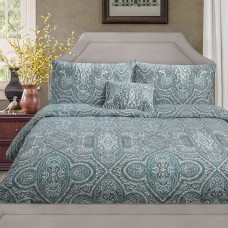 Driftwood Paisley Green Duvet Cover Sets and Cushion