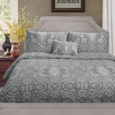 Driftwood Paisley Grey Duvet Cover Sets and Cushion