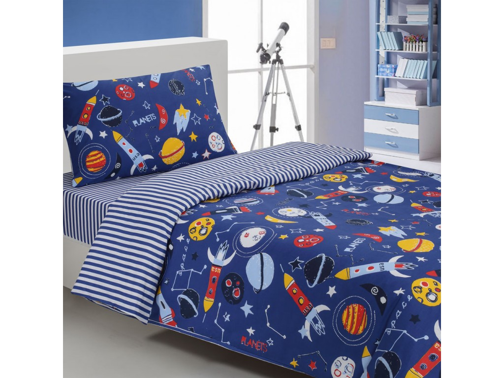 Driftwood planets duvet cover sets for Solar system fleece fabric