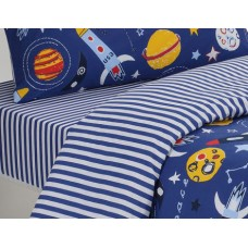 Driftwood Planets Plain Fitted Sheets