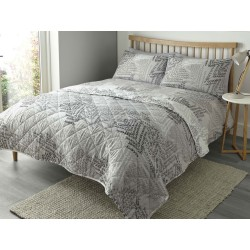 Fusion Alena Silver Duvet Cover Sets and Bedspread