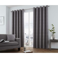Curtina Camberwell Graphite Eyelet Curtains and Cushions