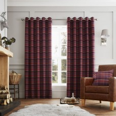 Curtina Cameron Purple Eyelet Curtains and Cushions